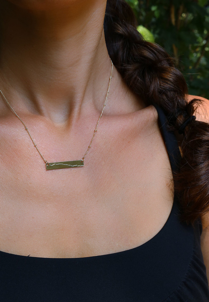 Custom Elevation Line ID Necklace