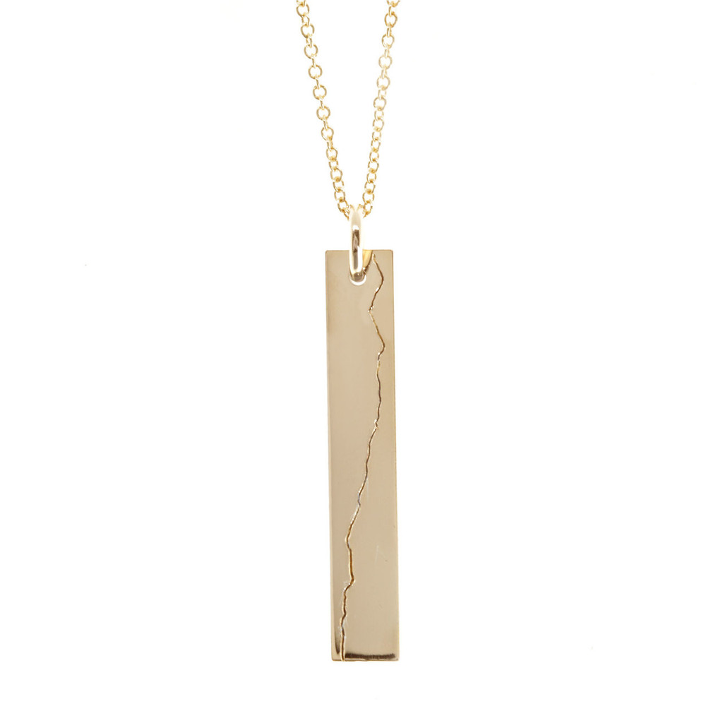 Custom Elevation Line  Bar Necklace