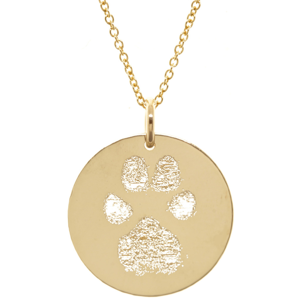 women pet memorial for custom silver paw product dog print fashion jewelry or cat new gold wholesale necklace