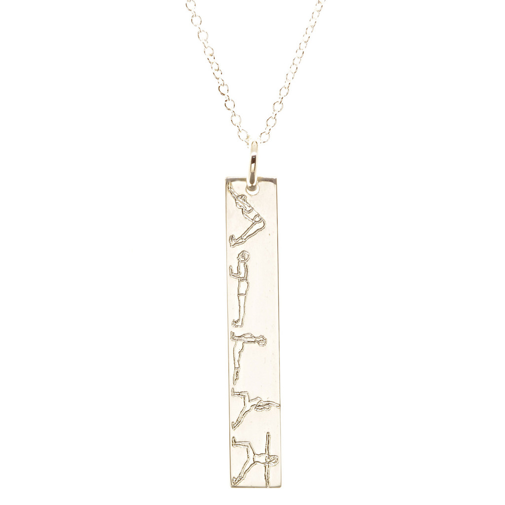 gold urban rectangle necklace the custom plate products smith name