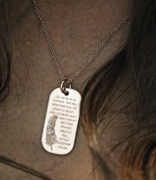 Be As A Feather Tag Necklace