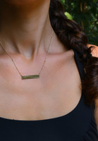 NYC Marathon Elevation Line ID Necklace