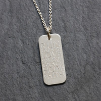 Sterling Silver Custom Wish Tag Necklace. Fine Cable Chain.