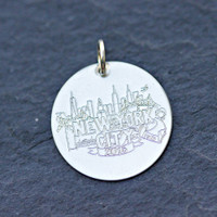 Sarah Marie Design Studio for ESD New York City Marathon Charm. Sterling silver.