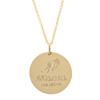 Mama Runner est necklace. Gold fill. Fine cable chain.