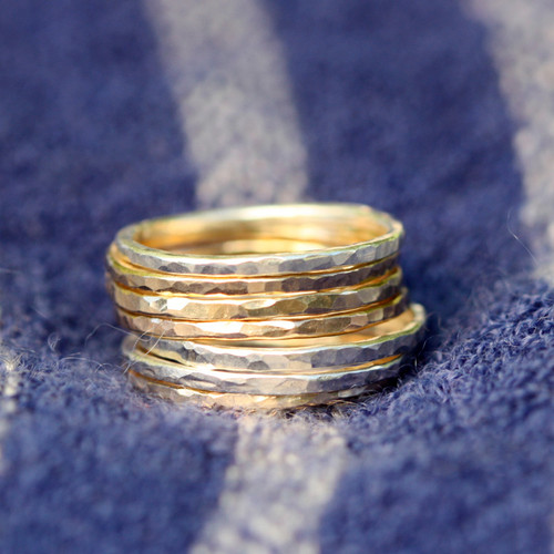 Hammered Stackable Ring