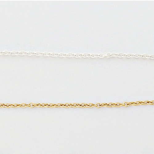 Fine Cable Chain. Available in Sterling Silver or Gold Fill.