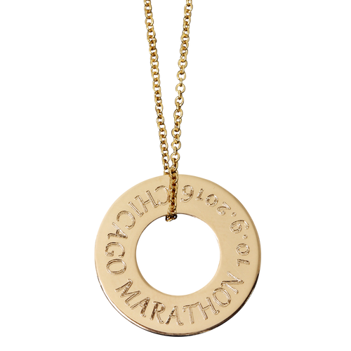 Gold fill. Fine cable chain. Gabriola font.