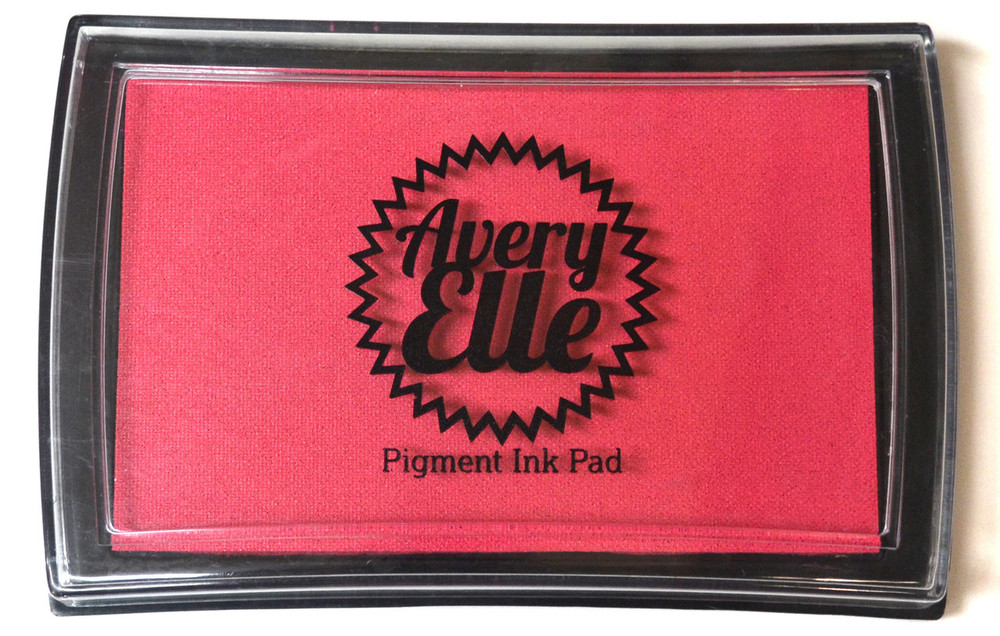Our Raspberry Pigment Ink Pad is a gorgeous shade of hot pink and matches our Raspberry premium card stock.  Our water-based premium pigment inks offer fantastic coverage with our clear stamps and are fast drying, embossable, acid free and non-toxic. Made in Taiwan