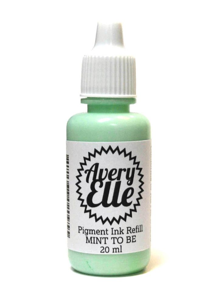 Our Mint To Be Pigment Ink Refills extends the life of our Mint To Be Pigment Ink Pads.