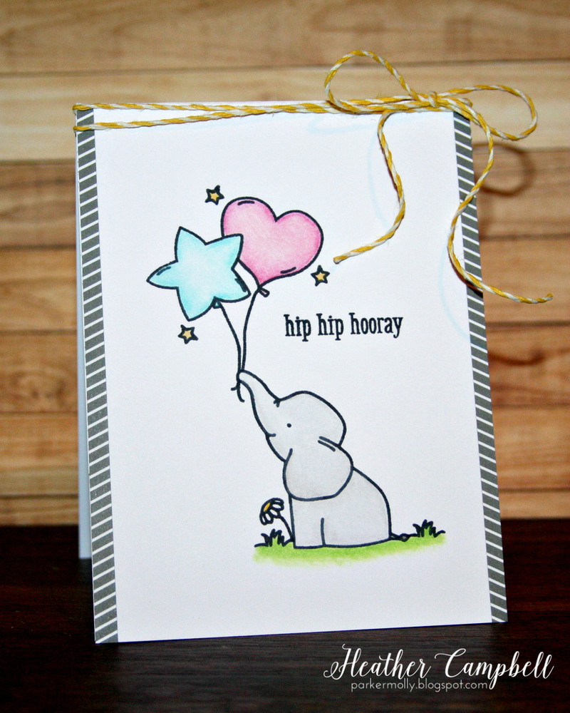 By Heather Campbell for Avery Elle Inc.  Ellie Clear Stamps.  The Everyday Collection Patterned Paper.