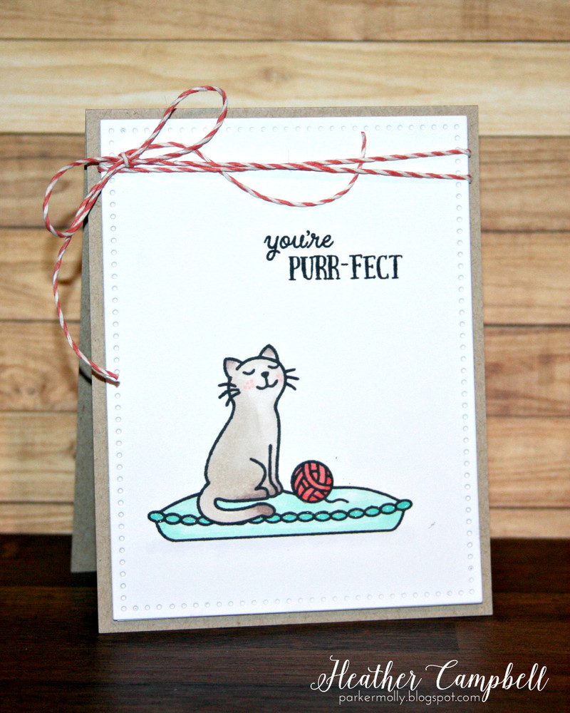 By Heather Campbell for Avery Elle Inc.  Furry Friends clear stamps.