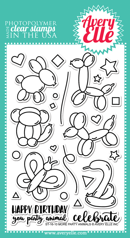 More Party Animals Clear Stamps