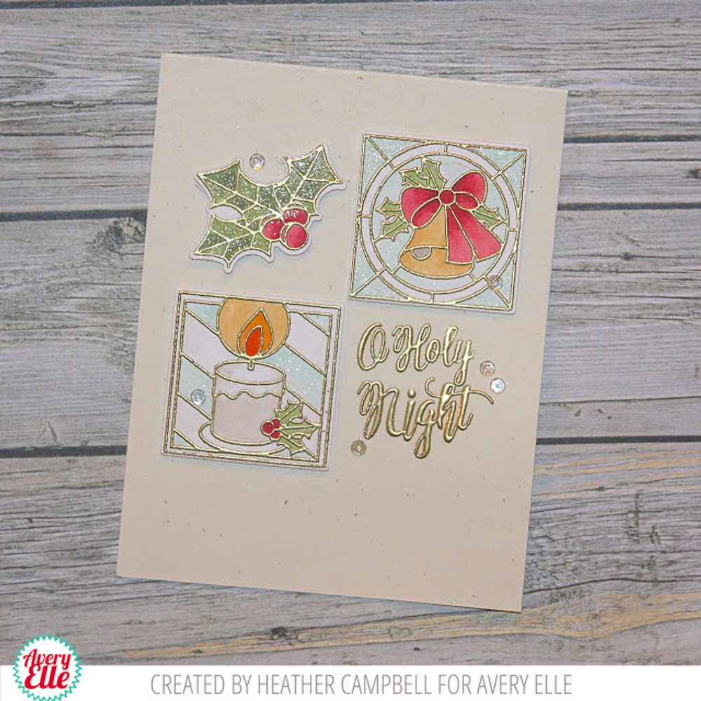 Holiday Glass Clear Stamps & Dies
