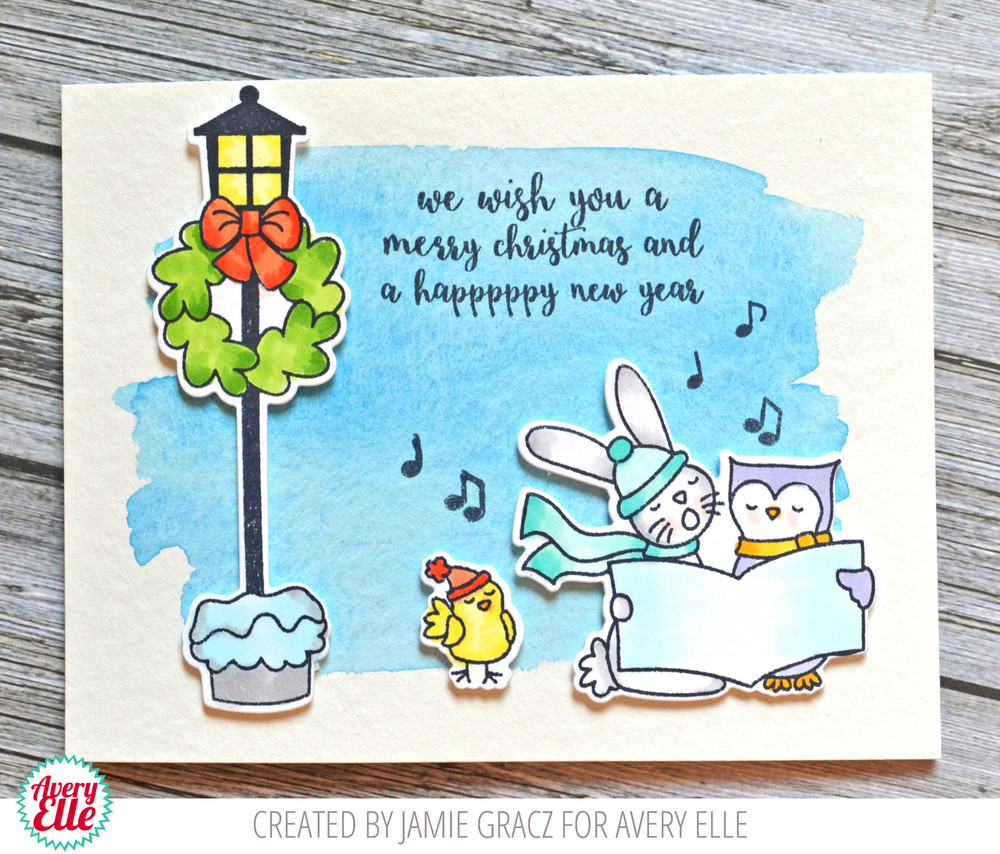 Caroling Critters Clear Stamps & Dies