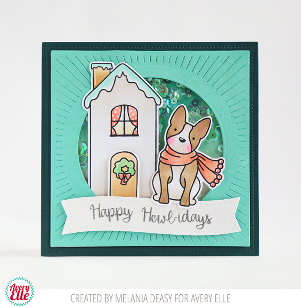 Happy Howl-idays Clear Stamps & Dies