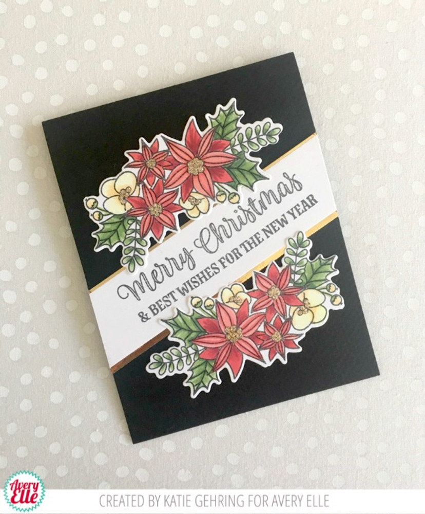 Merry Flowers Clear Stamps & Dies