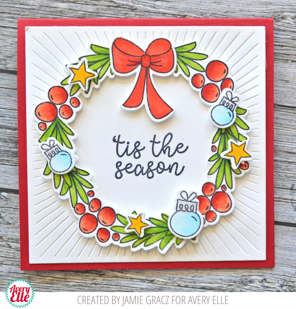 Festive Wreath Clear Stamps & Dies
