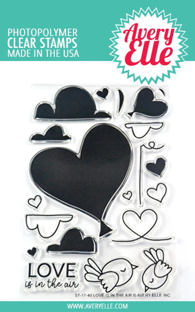 Avery Elle Love Is In The Air Clear Stamps