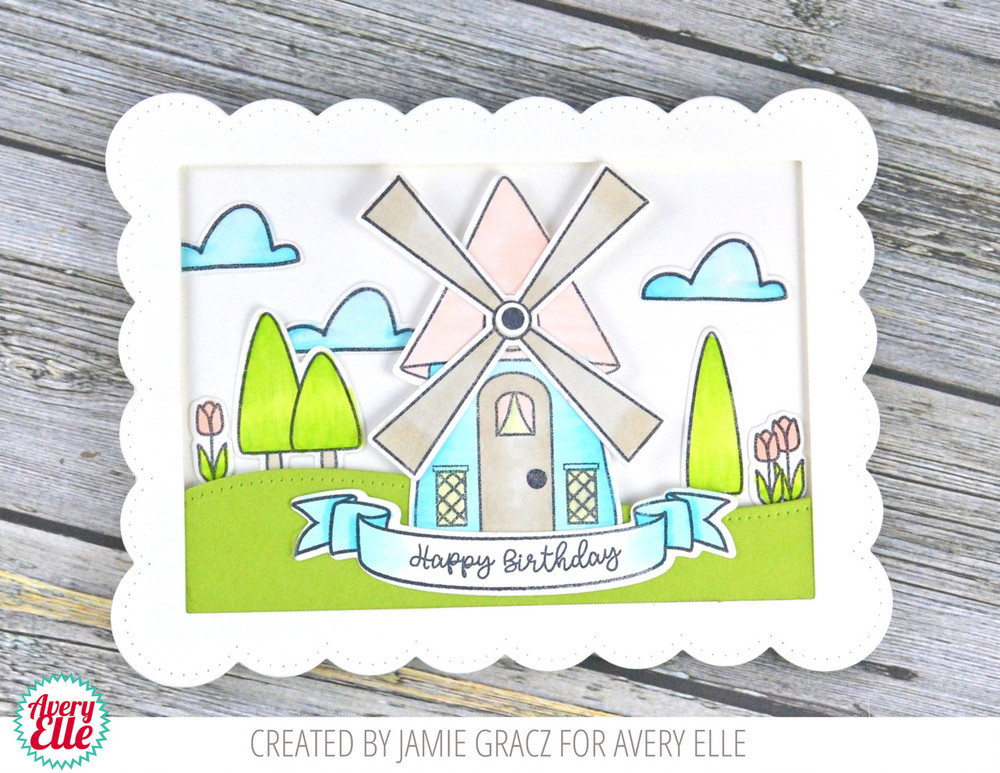 Windmill Clear Stamps & Dies