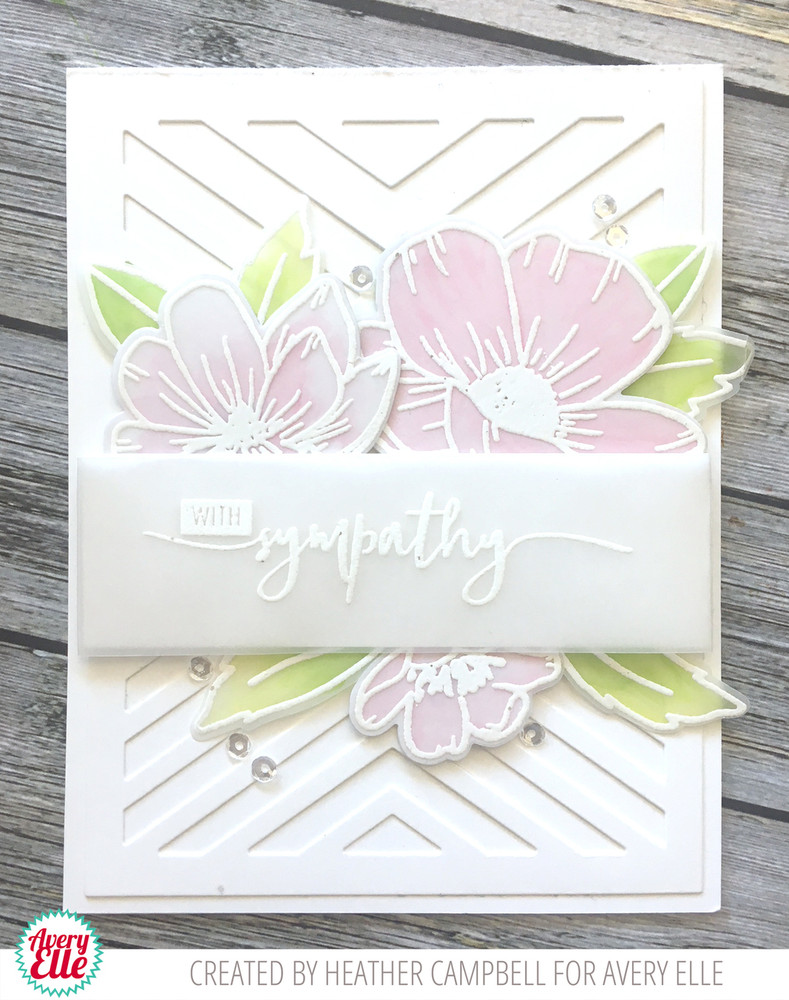 Hand Drawn Florals Clear Stamps & Dies