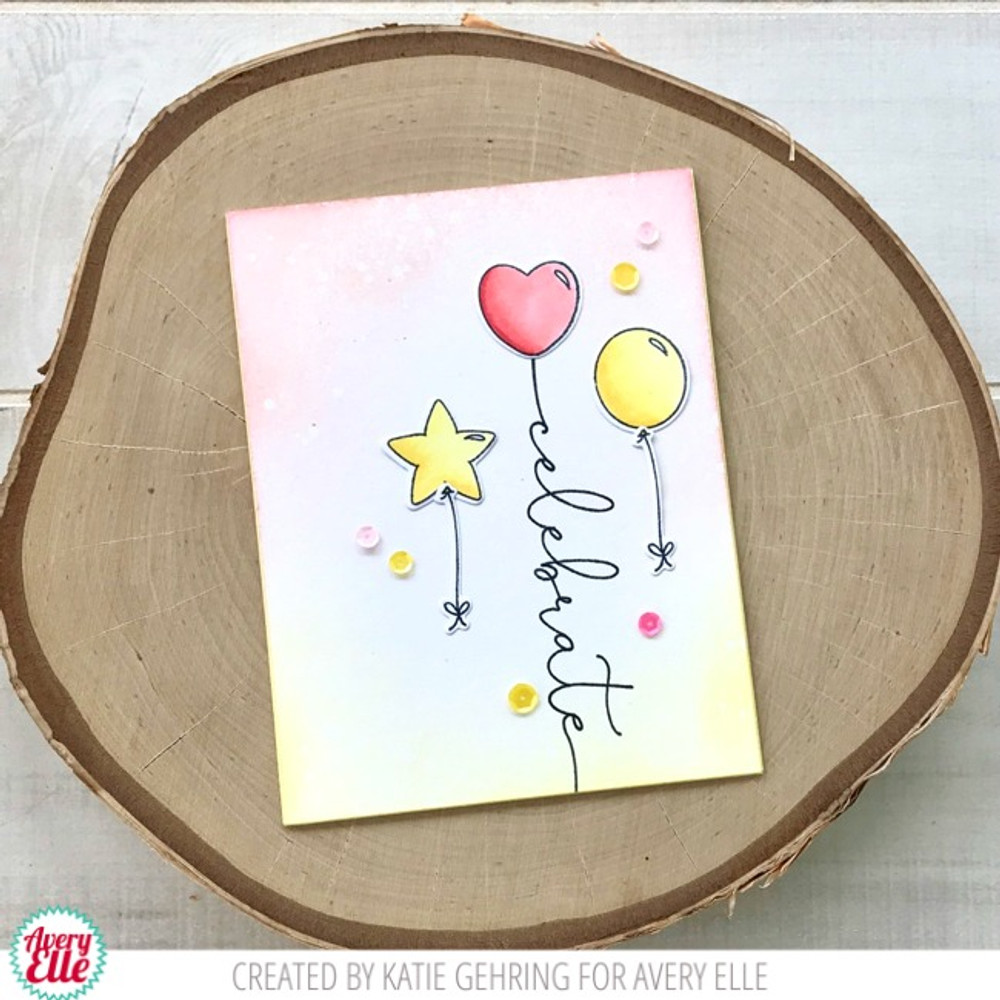Avery Elle Floating Wishes Clear Stamps & Die