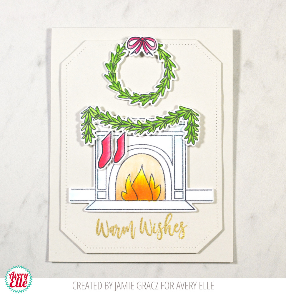 Avery Elle Fireside Die and Clear Stamp example