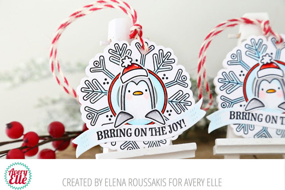 Snow Tags Clear Stamps & Dies
