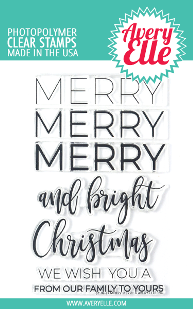 Avery Elle Merry Merry Clear Stamps