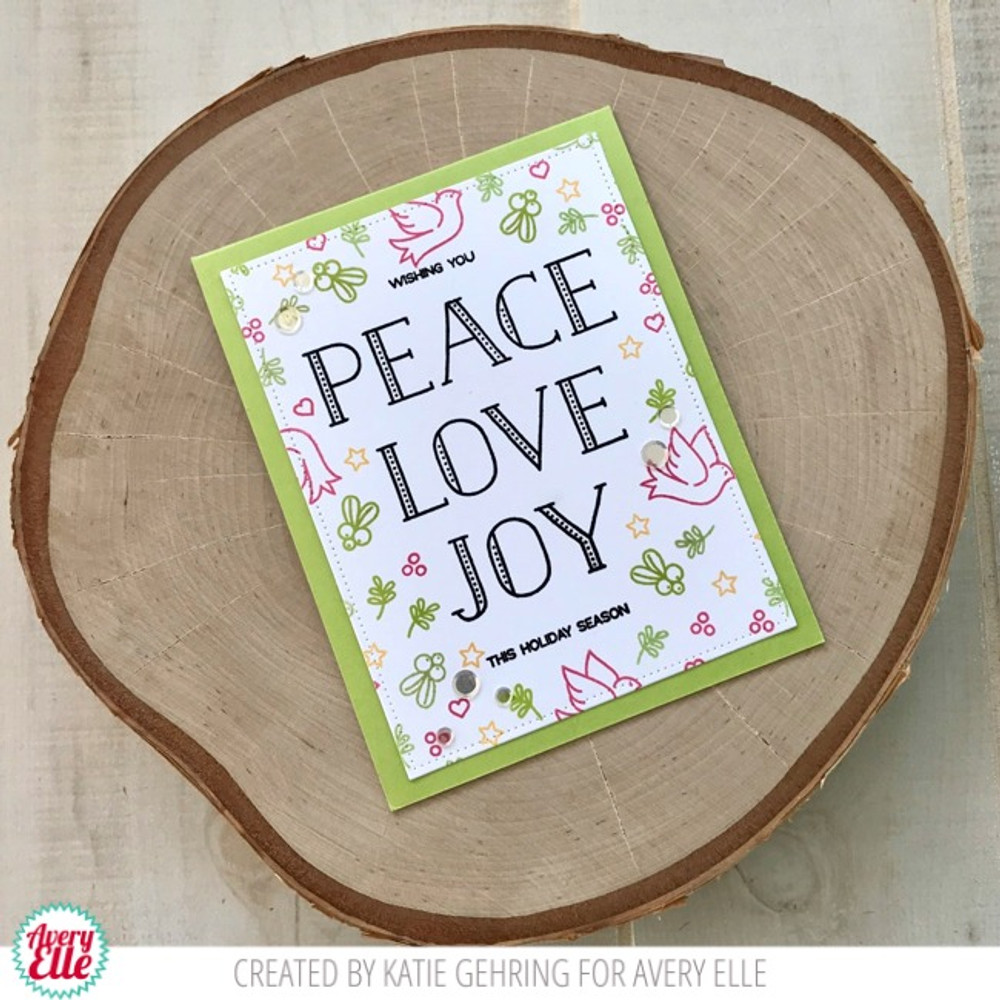 Sending Peace Clear Stamps
