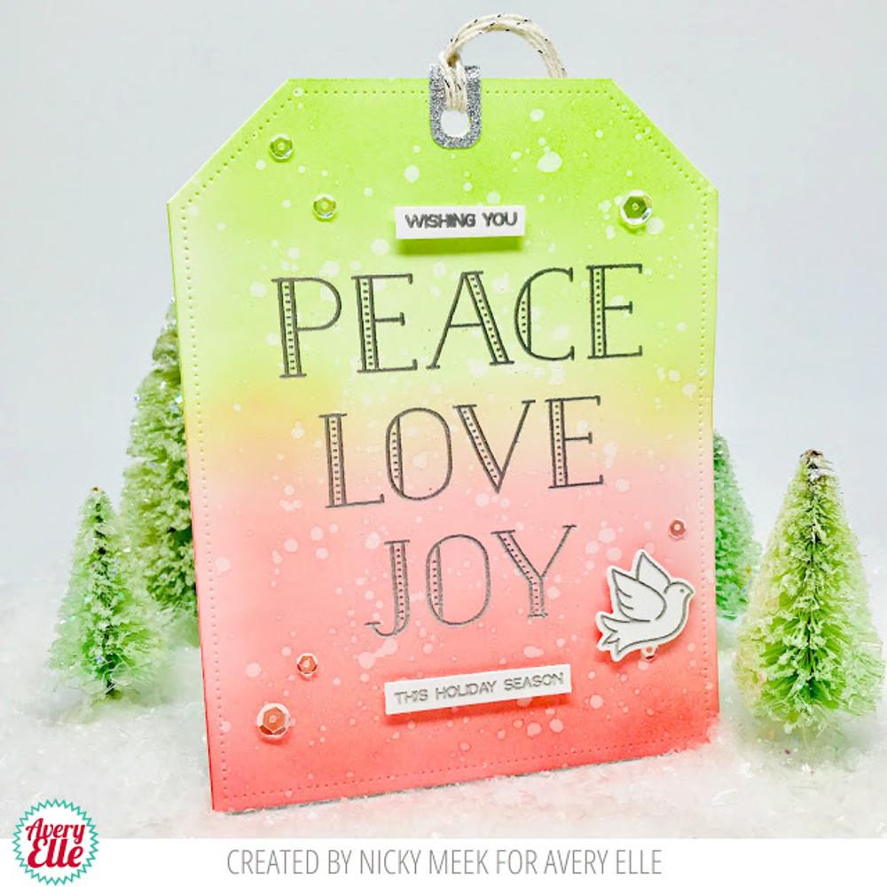 Avery Elle Sending Peace Clear Stamps & Die