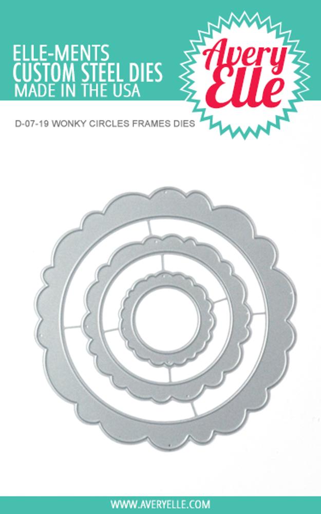 Die: Wonky Circles Frames Elle-ments