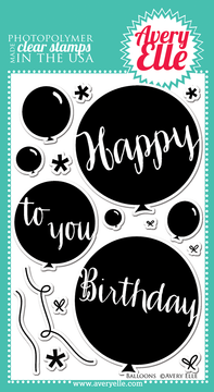 Avery Elle Balloons clear stamps