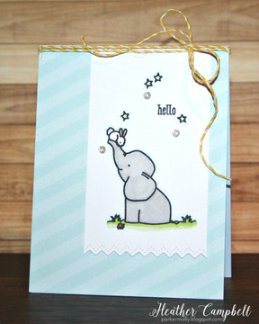 By Heather Campbell for Avery Elle Inc.  Ellie Clear Stamps.  Dotted Borders Dies.  The Sorbet Collection Patterned Paper.