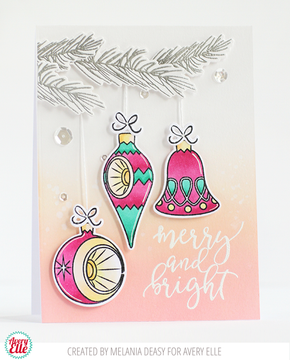 Retro Ornaments Clear Stamps & Dies