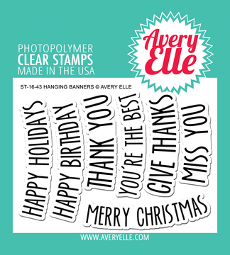 Avery Elle Hanging Banners Clear Stamps