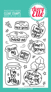 Avery Elle Punny Pantry Clear Stamps