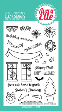Avery Elle Welcome Home Seasons Clear Stamps