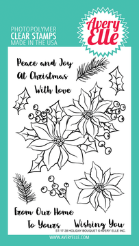 Avery Elle Holiday Bouquet Clear Stamps