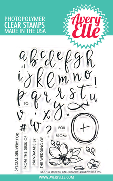 Avery Elle Modern Calligraphy Clear Stamps
