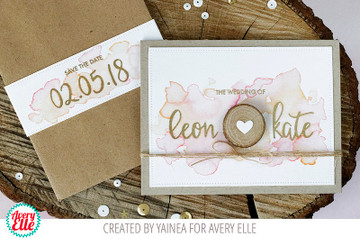 Modern Calligraphy Numbers Clear Stamps