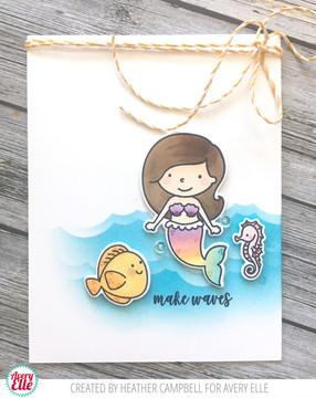 Mermaids Clear Stamps & Dies