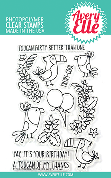 Avery Elle Toucan Party Clear Stamps