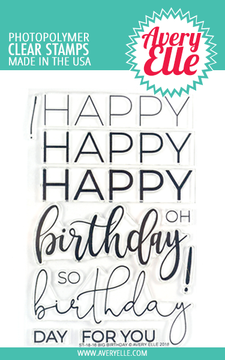 Avery Elle Big Birthday Clear Stamps