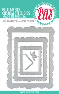 Avery Elle Wonky Scalloped Frames Dies