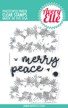 Avery Elle Peaceful Pines Clear Stamps