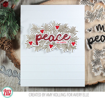 Peaceful Pines Clear Stamps & Dies