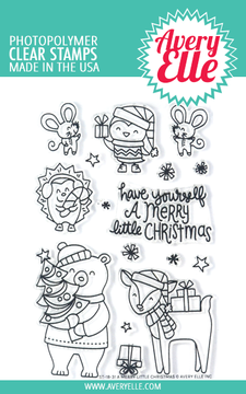 Avery Elle A Merry Little Christmas Clear Stamps