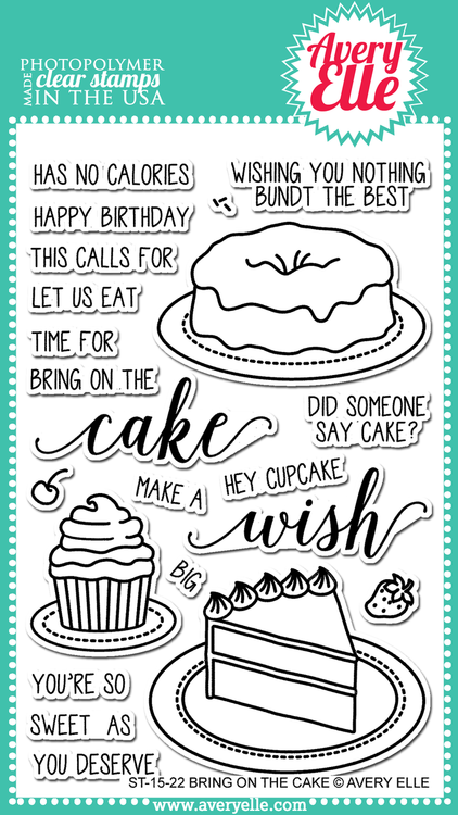 ST-15-22 Bring On The Cake Clear Stamps