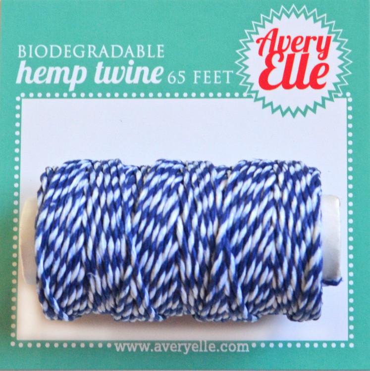 Sapphire Hemp Twine